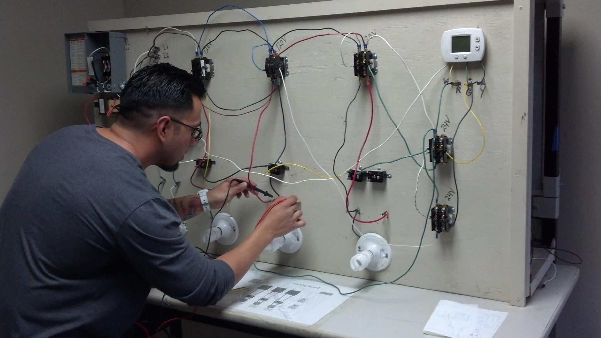 Media Central Texas Ac And Refrigeration School Electrical Circuit Training Board Graduation Gallery